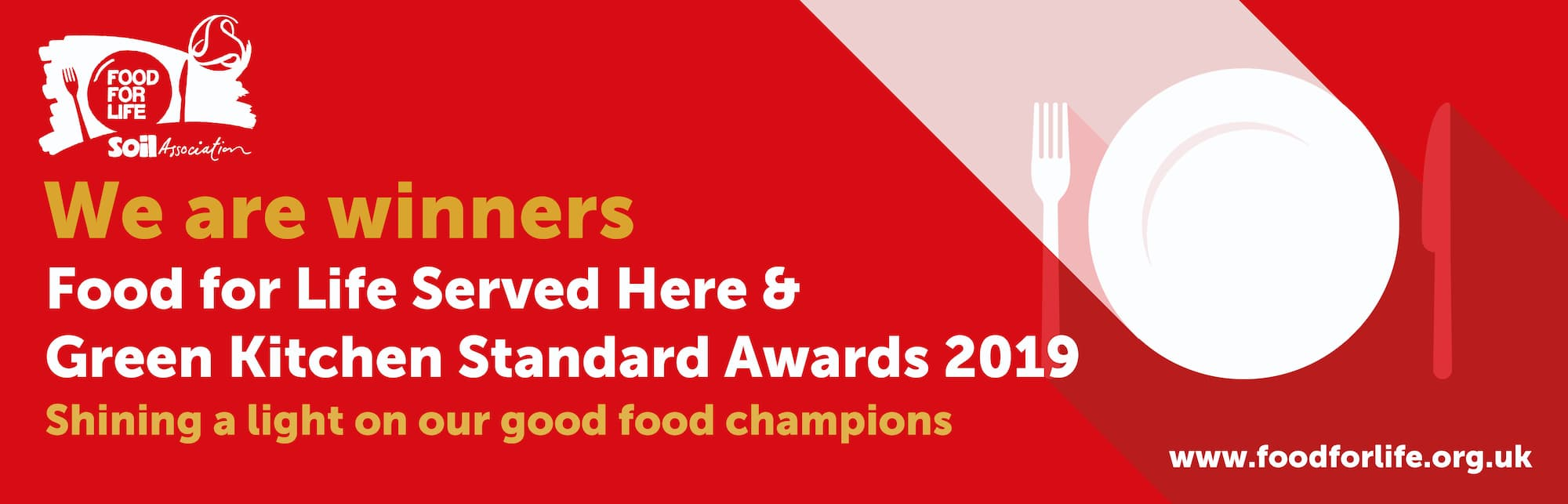 food for life award badge for Summerfield House care home